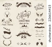 collection of calligraphic and... | Shutterstock .eps vector #226614415