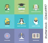 flat icons set of online... | Shutterstock .eps vector #226614997