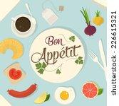 breakfast design set | Shutterstock .eps vector #226615321