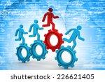 3d people   man  person running ...   Shutterstock . vector #226621405