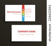 modern simple business card... | Shutterstock .eps vector #226622041