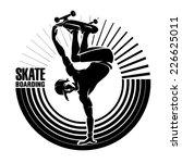 skateboarding. vector...   Shutterstock .eps vector #226625011
