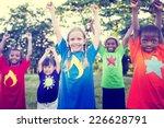 children playing happiness... | Shutterstock . vector #226628791