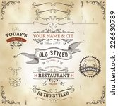 hand drawn western banners and... | Shutterstock .eps vector #226630789