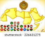 arab world map and flags | Shutterstock .eps vector #226631275