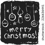 doodle merry christmas | Shutterstock . vector #226636441
