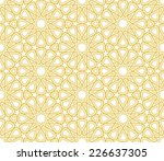 islamic star pattern golden... | Shutterstock .eps vector #226637305