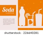 drinks design over white... | Shutterstock .eps vector #226640281