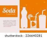 drinks design over white... | Shutterstock .eps vector #226640281