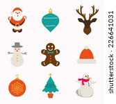 christmas and winter icons... | Shutterstock .eps vector #226641031