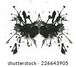 rorschach inkblot test... | Shutterstock . vector #226643905