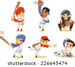 Baseball Player Set  With...