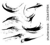 hand drawn grunge strokes of... | Shutterstock .eps vector #226645984