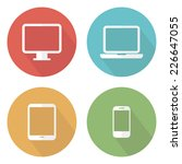 set of flat devices icons.... | Shutterstock .eps vector #226647055