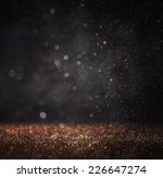 dark glitter vintage lights... | Shutterstock . vector #226647274