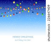 christmas lights and falling... | Shutterstock . vector #226647409