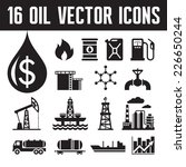 16 oil industry vector icons... | Shutterstock .eps vector #226650244