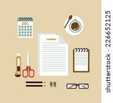 secretary desk illustration | Shutterstock .eps vector #226652125