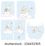 five angels  original ink... | Shutterstock . vector #226652305