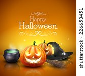 modern halloween greeting card... | Shutterstock .eps vector #226653451