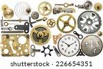 clockwork spare parts. metal... | Shutterstock . vector #226654351