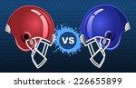 american football insignia... | Shutterstock .eps vector #226655899
