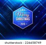 blue christmas card. abstract... | Shutterstock .eps vector #226658749