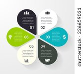 business circle infographic ... | Shutterstock .eps vector #226659031