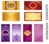 vector set of elegant template... | Shutterstock .eps vector #226661074