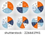 vector circle infographic.... | Shutterstock .eps vector #226661941