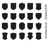 shield icons set. different... | Shutterstock .eps vector #226662535