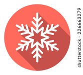 flat colored simple winter... | Shutterstock .eps vector #226663279
