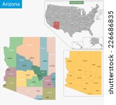 map of arizona state designed... | Shutterstock .eps vector #226686835