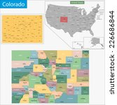 map of colorado state designed... | Shutterstock .eps vector #226686844