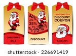 christmas sale tags | Shutterstock .eps vector #226691419