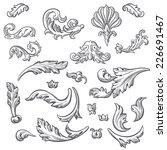 set of vector vintage baroque... | Shutterstock .eps vector #226691467