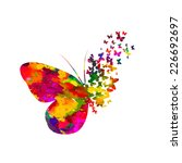 Stock vector colorful abstract watercolor butterfly on a white background vector 226692697