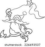 black and white cartoon... | Shutterstock . vector #226693537