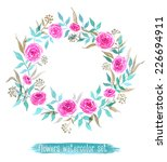 vector flowers set. colorful... | Shutterstock .eps vector #226694911