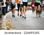 marathon running race  people... | Shutterstock . vector #226695181