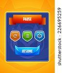 game ui. pause menu. vector eps ...