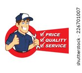 mechanic with service list | Shutterstock .eps vector #226701007