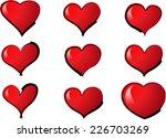 vector hearts | Shutterstock .eps vector #226703269