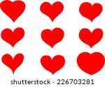 vector hearts | Shutterstock .eps vector #226703281