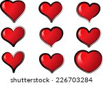vector hearts | Shutterstock .eps vector #226703284
