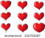 vector hearts | Shutterstock .eps vector #226703287