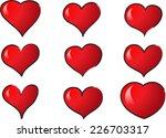 vector hearts | Shutterstock .eps vector #226703317