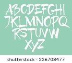 vector alphabet. hand drawn...   Shutterstock .eps vector #226708477