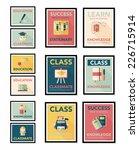 school poster flat banner... | Shutterstock .eps vector #226715914