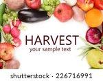 fresh organic vegetables and... | Shutterstock . vector #226716991